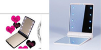 Wholesale High quality Makeup Compact Cosmetic Mirror w LED Light Lamp Only with good quailty