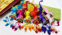 Wholesale Retro Car Interior Hanging Chinese knot Silk Embroidery Small Decorative Crafts mix Free