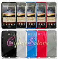 Wholesale 50pcs S Line Gel Case Cover Screen protector for Samsung Galaxy Note N7000 i9220
