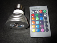Wholesale 5W E27 LED RGB Bulb Light Color Change lamp Remote Control