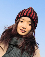 Wholesale winter Thick womens lady beanie crochet knit beret hats warm cap windproof lady s fashion hat