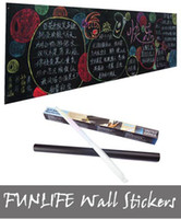 Wholesale funlife x200cm Stcik On Blackboard Chalkboard Wall Paper Sticker Decor Removable FF1Y002