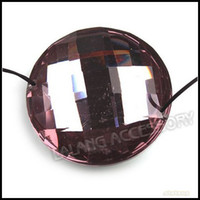 Wholesale Round Plating Bottom Resin Beads Light Purple Charms Jewelry Pendant As DIY Chains Grain