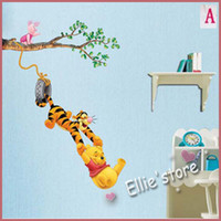 Wholesale Hot sale animal kid decoration wall sticker room paper window decal size