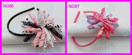 Free shipping new style 140pcs korker headbands mix color korker hairbands korker hair bows yellow