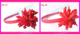 Free shipping new style 500pcs korker headbands mix color korker hairbands korker hair bows red