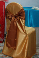 Wholesale Gold banquet satin chair cover