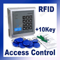 Wholesale RFID Door Lock Proximity Access Control System Keys Silver DC V