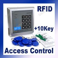 Wholesale RFID Door Lock Proximity Access Control System Keys Silver DC V