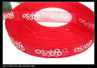 Wholesale CM organza ribbon with printed parts accessories MOQ M Color