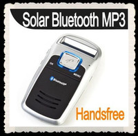 Wholesale Solar Powered Handsfree Car kit Bluetooth CellPhone MP3 sandymandy