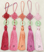 Wholesale Jade Car Interior Decor Pendant Chinese knot Tassel Crafts mix Free