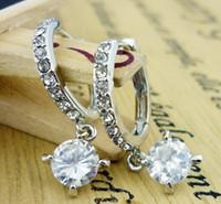 Wholesale earring zircon earrings high quality fashion crystal zircon hoops earrings dangles drop earrings