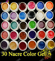 30colors beauty box nails - Excellent Quality colors Pear UV Gel Color Painting Polish For Nail Art Beauty ml capacity each box FreeShipping