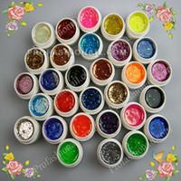 Wholesale 30 x Professional Glitter paillette Colors UV Gel False Nail Art Set For Nail Art Beauty