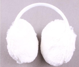 Wholesale Hot selling Lovely white plush earmuff fit for all collocation novelty gift for girls keep you warm
