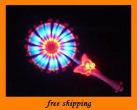 Girls plastic windmill toy - Popular kids LED TOYS Balala little magic fairy Flash stick music windmill party gifts