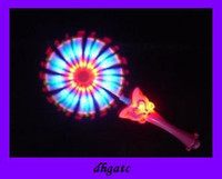 Wholesale Hot selling LED TOYS Balala little magic fairy flash music windmill Glow Toy baby gift