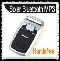 Wholesale New Solar Powered Handsfree Car kit Bluetooth CellPhone MP3 sandymandy