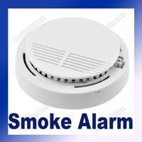 Wholesale Security Photoelectric Cordless Smoke Detector Fire Alarm High Sensitivity White