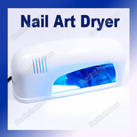 Wholesale 9W V V V Professional UV Gel Nail Art Curing Lamp Dryer Light White US EU Plug