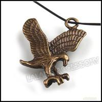 Men's eagle pendant - 31mm Flying Eagle Charms Pendant Vintage Bronze Alloy Necklace Pendant For Men