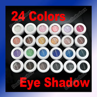Wholesale 24 Colors Eye shadow powder mineral pigment makeup Mineral amp Spangle
