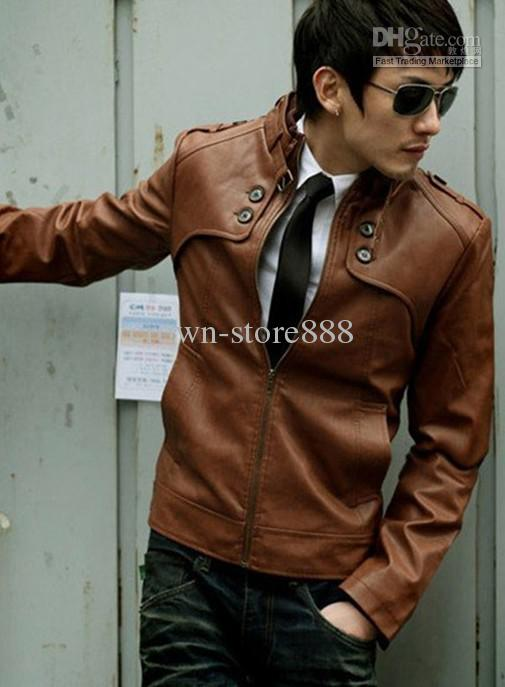 Hot New Mens Leather Jacket Korean Men Thick Leather Motorcycle Jacket Leisure From Crown Store888, $45.24 | Dhgate.Com