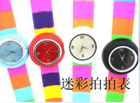 battery tape measure - 20pcs scolourful clap Tape measure watch Hand wreath watches
