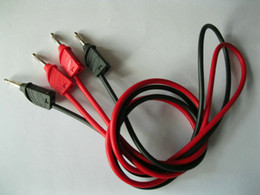 2 Set(4pcs) 2 Colors Red Black to B Type Banana Plug Silicone Lead Test Cable High voltage