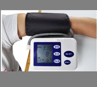 Wholesale Digital ARM Blood Pressure amp Heart Beat Monitor with LCD screen