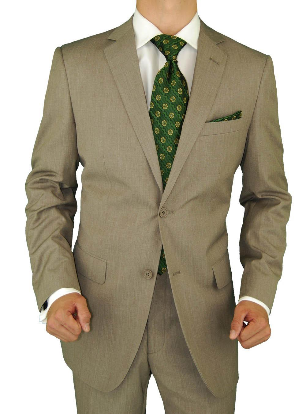 Fashion Wool Suit Slim Fit Suit Italian Modern Fit 2 Button Jacket ...