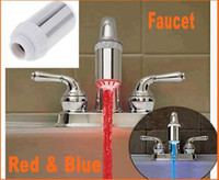 Wholesale Dropshipping Gifts Glow LED Faucet Shower Light Temperature Sensor Red amp Blue battery included