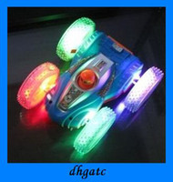 Wholesale Hot Selling LED toys dump cars kids electric light music car stunt dump crazy baby toy
