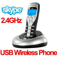 Wholesale Digital USB GHz M Wireless VoIP Phone Skype Yahoo Wireless Skype Phone