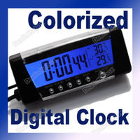 Wholesale LCD Screen Display Digital Alarm Clock Car Thermometer Hygrometer