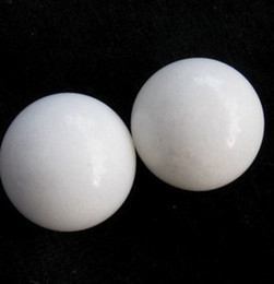 Wholesale White jade Mini Fitness Ball protect the health of your life Christmas Gift