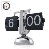 Wholesale Fashion Design Retro Flip Down Clock Internal Gear Operated Classical Style toy2011