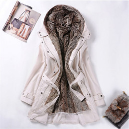 Wholesale Women s Fur Coats winter Warm Long Coat Jackett Clothes Ladies Women s Coat
