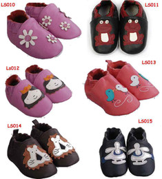 Wholesale Baby Zoo Soft Sole Leather baby slippers walking shoes zoo elephant boys shoes girls walking shoes