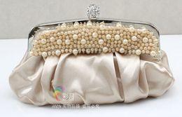 Wholesale Gorgeous Ivory Red Pearl Beautiful Evening Bag Handbag Purse clutch wedding bags ladies s bag