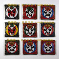 Wholesale Metal Fridge Magnet Sticker Refrigeratory Magnet Chinese Cloisonne Magnetic Stickers mix Free