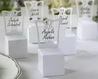 Wholesale Miniature Chair Place Card Holder and Favor Box chair box gift box