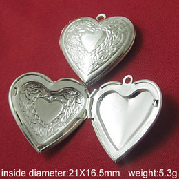 Beadsnice locket pendant brass album box heart-shaped inside diameter 21x16.5mm photo locket pendant wholesale ID 3354