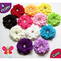 flower adorn cottons - peony flower hair Children s hair adorn flower baby hair girls hair bows hot
