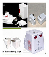Wholesale USB Worldwide Multi Travel Adaptor Adapter interface Converter Plug Socket in US EU UK AU