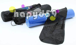 new yoga popular Portable Yoga Mat Bag Polyester Nylon Mesh black backpack for health beauty sports Storage bag