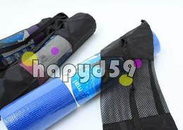 yoga popular Portable Yoga Mat Bag Polyester Nylon Mesh black backpack for health beauty sports Storage bag