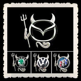 50PCS LOT 3d PVC Devil Stickers For Car gold silver and red Car Badge Emblems Bumper stickers China