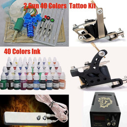 Wholesale Quality Tattoo Kit Inks amp Machines amp LED Power Supply CD Ink Cups Grip Tattoo Supply